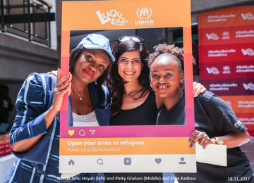 UNHCR's LuQuLuQu activation at Sarit Centre, Nairobi. Kenya.