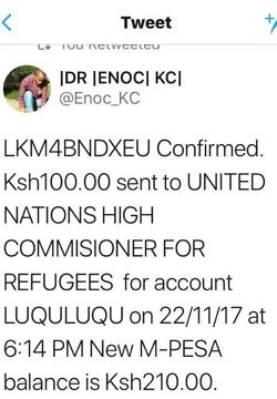 The strength of our numbers will enable us to provide tangible support to Africa's displaced – That is the spirit of LuQuLuQu's online supporters.